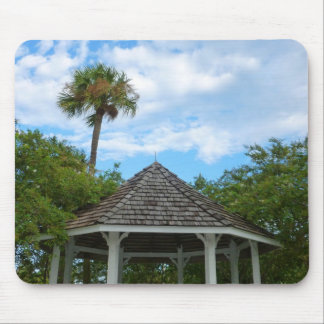 Gazebo sky palm trees ft pierce florida mousepad