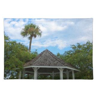Gazebo sky palm trees ft pierce florida placemats