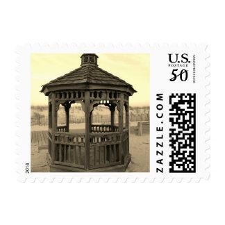 Gazebo Stamp, Vintage Sepia Postage