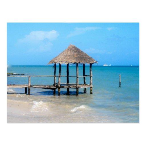 Gazebo tropical tarjetas postales