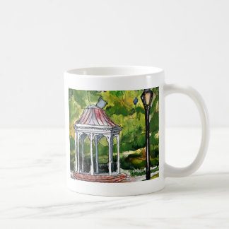 gazebo watercolor painting garden nature coffee mug