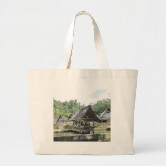 gazeebo de bambú viejo bolsa tela grande