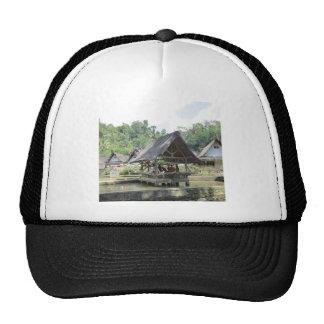 gazeebo de bambú viejo gorra
