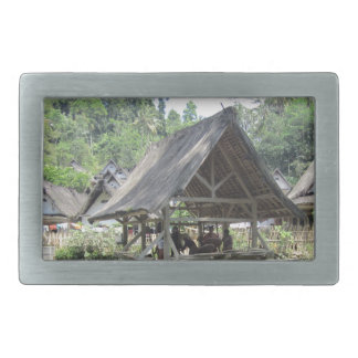 gazeebo de bambú viejo hebillas de cinturón rectangulares
