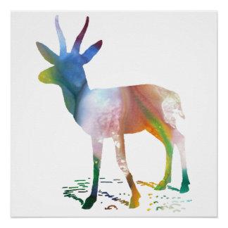 Gazelle art poster