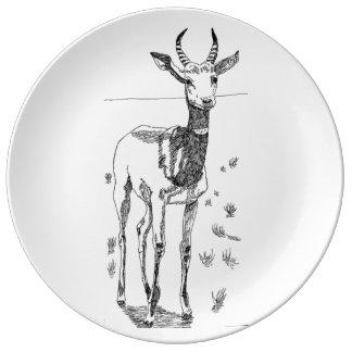 Gazelle de Addra Platos De Cerámica