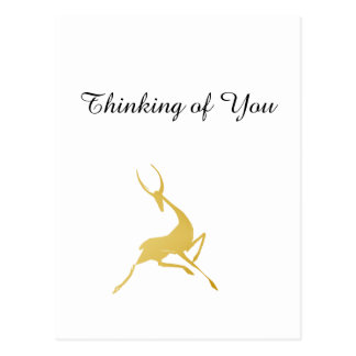 Gazelle dibujado mano juguetónamente elegante del postales