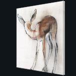 "Gazelle Fawn Canvas Print<br><div class=""desc"">Gazelle Fawn (Arabian Gazelle) 2010 (oil on paper)  Adlington  Mark / Private Collection / Bridgeman Images Wild Animals</div>"