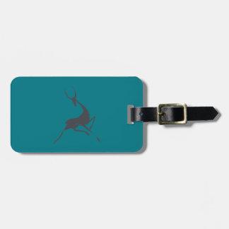 Gazelle gris dibujado mano juguetónamente elegante etiquetas para maletas