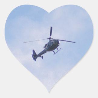 Gazelle Helicopter Heart Sticker