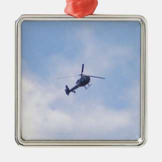 Gazelle Helicopter Metal Ornament