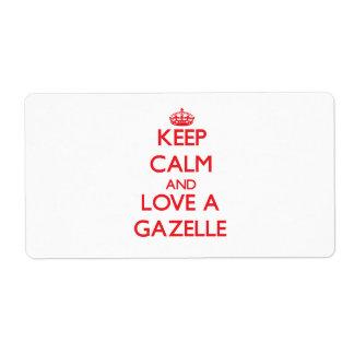 Gazelle Shipping Label