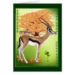 Gazelle n Tree Card