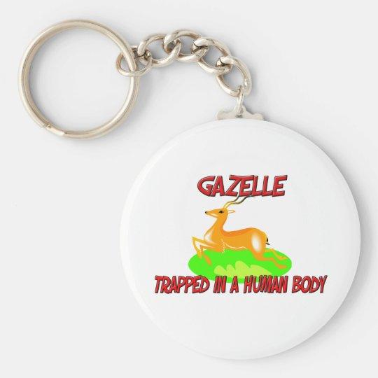 Gazelle trapped in a human body keychain