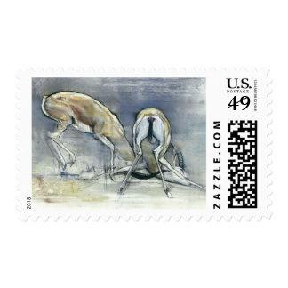 Gazelles de la arena 2009 2 sellos postales