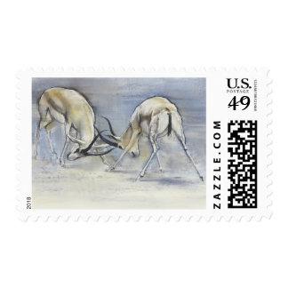 Gazelles de la arena 2009 3 sellos postales