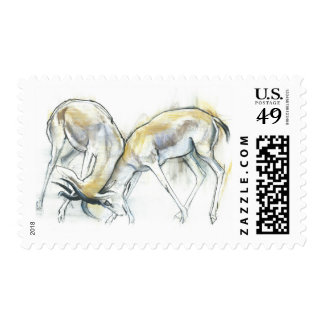 Gazelles de la arena 2009 5 sellos postales