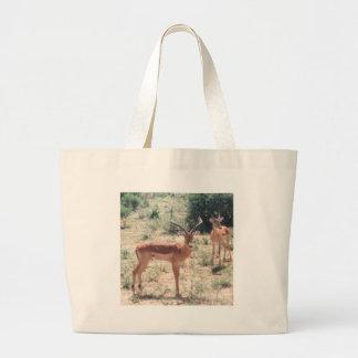 Gazelles en el salvaje bolsa lienzo