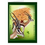 Gazelles n Tree Greeting Card