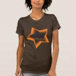 Gazer de la estrella que mira hasta las estrellas camiseta