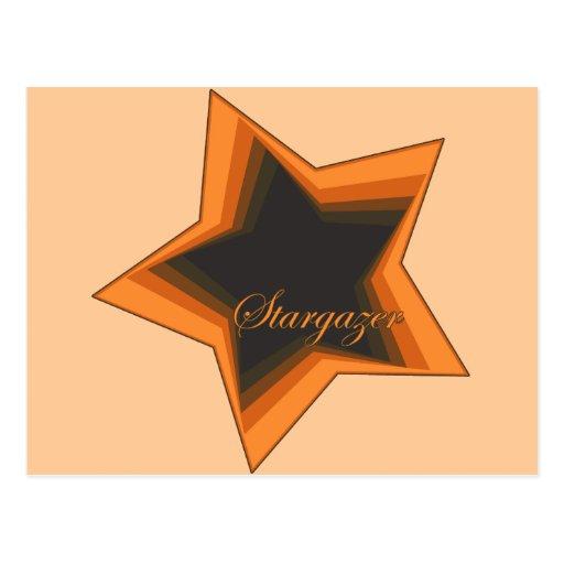 Gazer de la estrella que mira hasta las estrellas  tarjeta postal