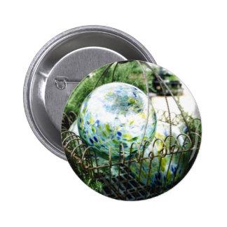Gazing Ball Pinback Button