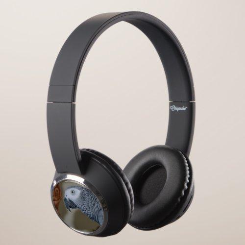 Gazing Congo African Grey Parrot Headphones