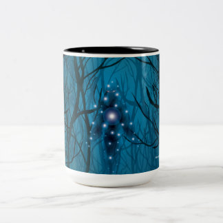 Gazing Into the Void Two-Tone Coffee Mug