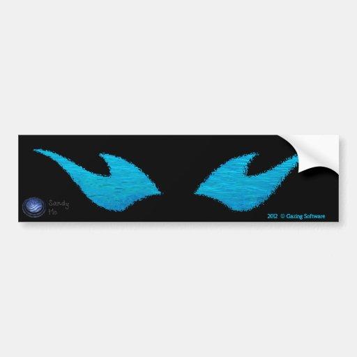 Gazing Logo - Water Edition Bumper Stickers