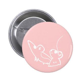 Gazing Mice - Pink Button