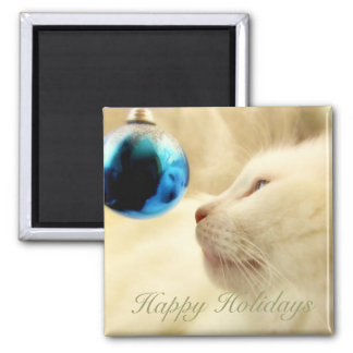 Gazing Upon A Blue Star 2 Inch Square Magnet