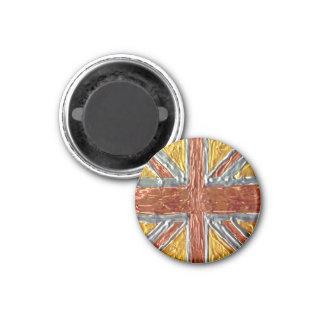 GB - British Flag Union Jack GB 1 Inch Round Magnet