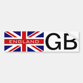 GB car sticker with British Union jack flag