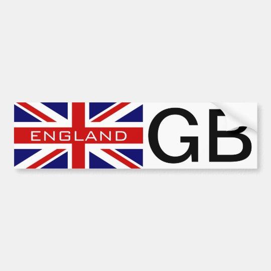 GB car sticker with British Union jack flag