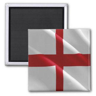 GB - England - Waving Flag English 2 Inch Square Magnet