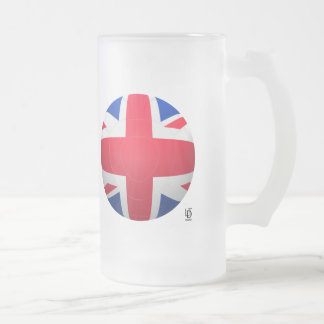 GB Football Frosted Glass Beer Mug