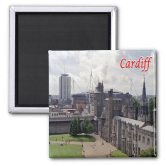 GB - Galés - Cardiff Imán Cuadrado