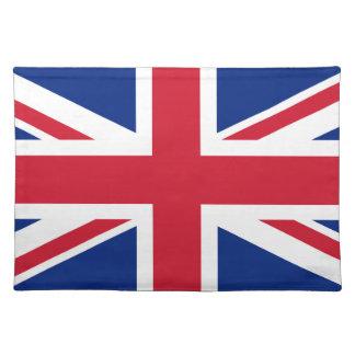 GB Great Britain  Union Jack London british flag Cloth Placemat