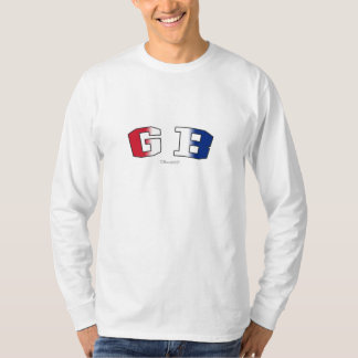 GB in national flag colors T-Shirt
