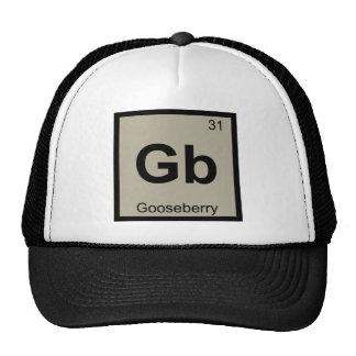 GB - Símbolo de la tabla periódica de la química Gorro