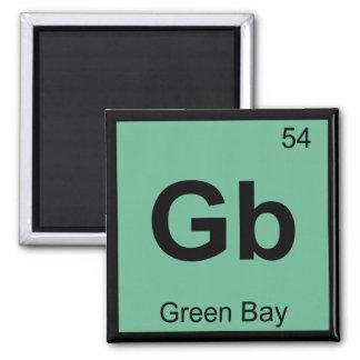 GB - Tabla periódica de la química de Wisconsin de Imán Cuadrado