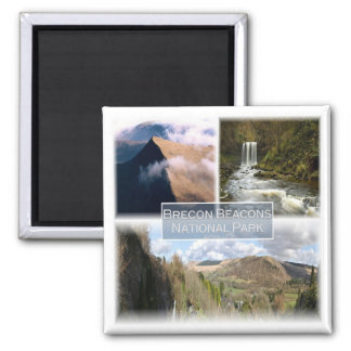 GB * The Brecon Beacons National Park Wales 2 Inch Square Magnet