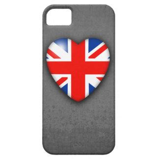 GBUnion Jack Heart on grey grunge iPhone 5 Cases