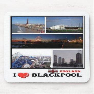 GB United Kingdom - England - Blackpool - I Love - Mouse Pad