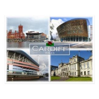 GB United Kingdom - Wales - Cardiff - Postcard
