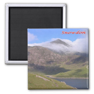 GB - Welsh - Snowdon 2 Inch Square Magnet