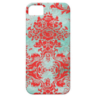 GC 2 Vintage Turquoise Red Damask Case Mate iPhone 5 Cases
