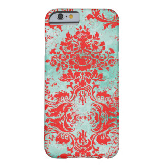 GC 2 Vintage Turquoise Red Damask iPhone 6 Case