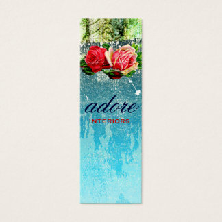 GC Adore in Roses Blue Mini Business Card