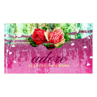 GC | Adore in Roses | Vintage Double-Sided Standard Business Cards (Pack Of 100)